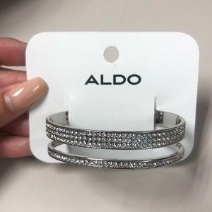 Aldo new cuff rhinestone stone bracelet